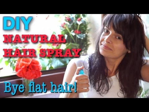 DIY Natural Hair Spray - How to add volume to flat, thin hair
