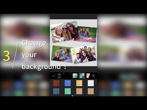 PhotoGrid-How to create a free-style pic collage with the scrapbook?