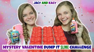 Download Mystery Valentine Dump It Slime Challenge ~ Jacy and Kacy Video