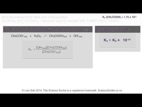 NCEA L3 Chem - Calculating pH at Equivalence Point