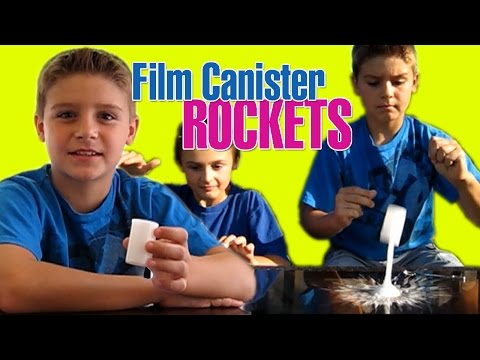 FILM CANISTER ROCKET Easy Kids Science Experiments