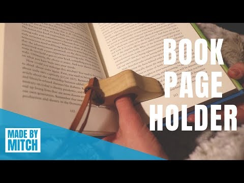How to make a Book Page Holder