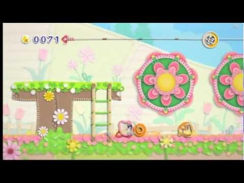 Kirby's Epic Yarn Flower Fields 100% Walkthrough