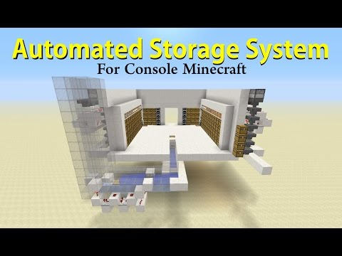 Automated Storage System for Console Minecraft - Tutorial