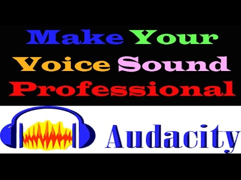 Audacity tutorial for crystal clear audio sound