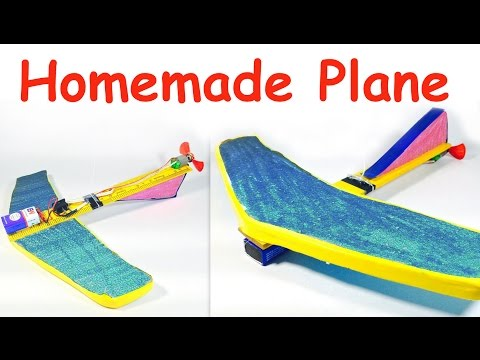 How to Make a Hanging AIRPLANE with a MOTOR at Home   AROUND the POLE AIRPLANE