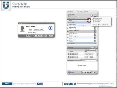 Cisco Unified Personal Communicator (CUPC Mac) - Making Video Calls