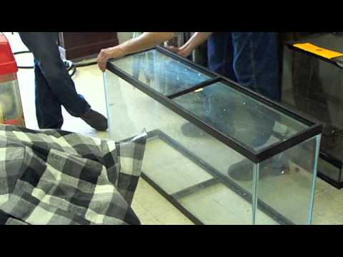 # 395 Removing and replacing the Bottom of a Tank Part Seven Carls Aquarium