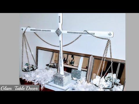 DIY Dollar Tree Table Decor - Glam Bling