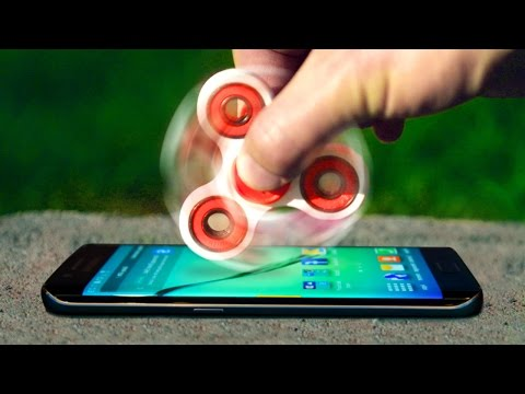 Can 1000 MPH Fidget Spinner Shatter Galaxy S8 Infinity Display?