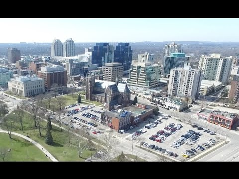 Beautiful Aerial View of London, Ontario | Victoria Park