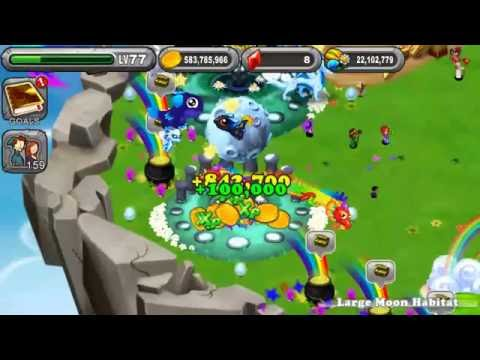 Hatching a TWIN Blue Moon Dragon in DragonVale
