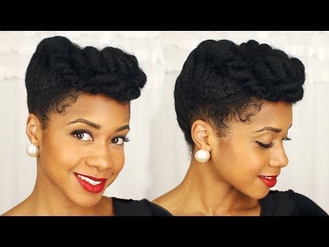 Easy Elegant Updo Perfect For Special Occasions | Natural Hair