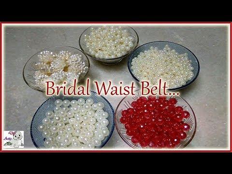 #183 Make Waist Belt With Pearls    Kamarband    Vaddanam    Bridal Collection    Jewellery Making