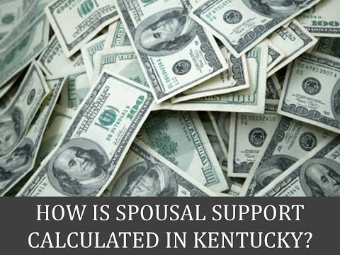 How Is Spousal Support Calculated in Kentucky