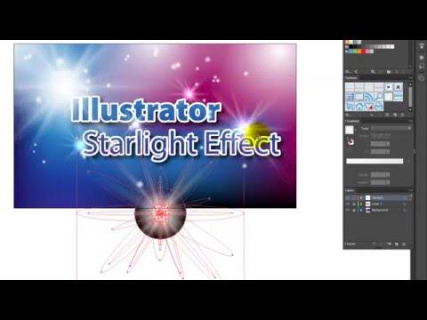 How to make starlight effect in Illustrator