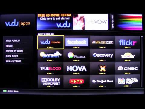 Walkthrough of the Sharp 2012 Smart TV