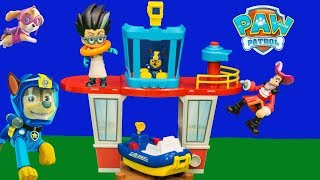 PAW PATROL Disney Beach Tower Stolen By PJ Masks Romeo and Captain Hook Toys