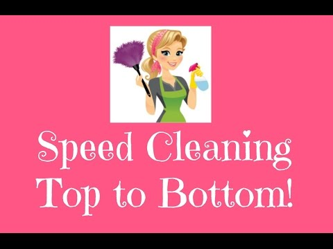 Speed Cleaning From Top to Bottom!