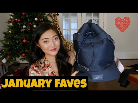 January Faves 2018-gym bag, sleeping mask and other skin cares!
