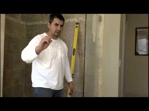 How to install a shower glass enclosure