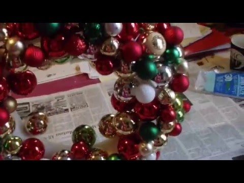Making Christmas wreaths....