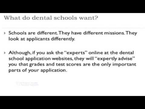 Dental School - Can I Get In? The Role of Holistic Admissions