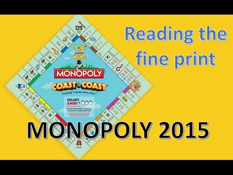 Monopoly at McDonalds 2015
