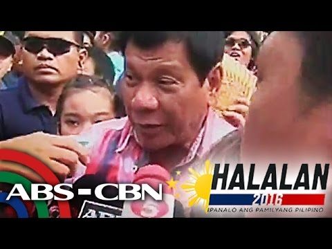 Duterte arrives to cast his vote in Davao
