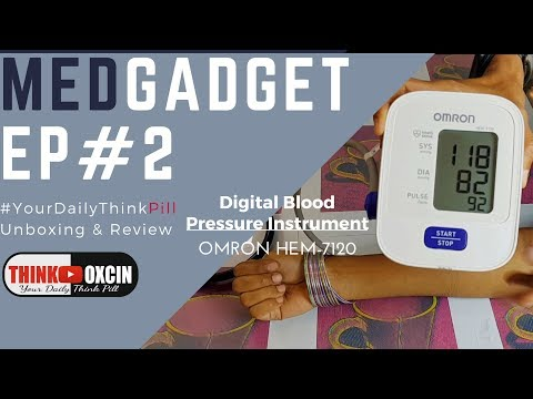 Omron HEM-7120 Automatic Blood Pressure Monitor - UNBOXING REVIEW & DEMO BP Machine #MEDGADGET 2
