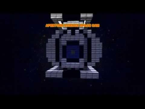 Minecraft greenscreen test: Wheatley in space