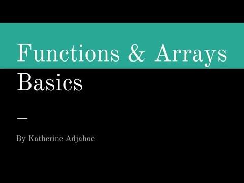 Javascript Tutorial For Beginners - #2 Javascript Functions and Arrays
