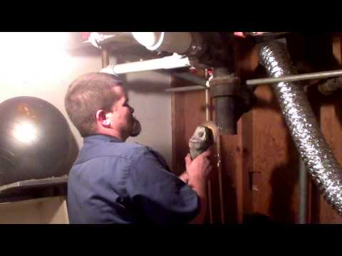 replacing a section of cracked  cast iron drain pipe in 20 minutes