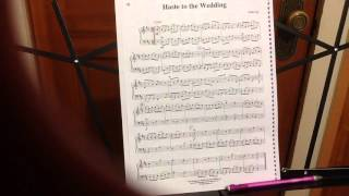 Haste To The Wedding Flute