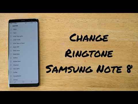 How to change ringtone Samsung Galaxy Note 8
