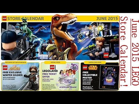 LEGO Store June Calendar - Events and Promotions!