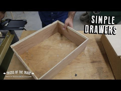 Simple and Fast Rabbeted Drawers | Tricks of the Trade