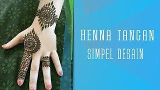 Henna Tangan Simple Punggung Tangan