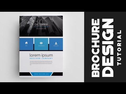 how to design brochure in photoshop cs6 | Corporate Brochure Tutorial