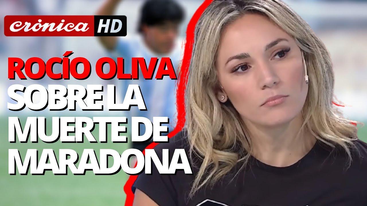 Rocío Oliva sobre la muerte de Maradona