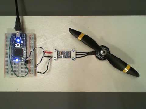 mbed speed control of a DC Brushless motor using an RC ESC module