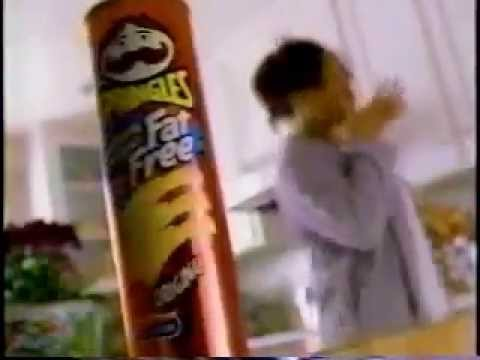 Pringles Fat Free Chips Commercial from 1998