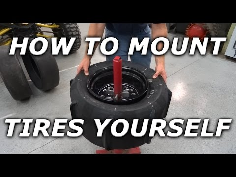 How to mount ATV / UTV / SXS tires at home! Mounting Skat Traks on YXZ rims!