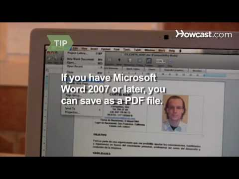 How to Convert a Word Document to a PDF File
