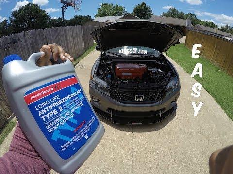How To Flush Your Radiator Coolant - 2015 Honda Accord