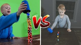 Little Brother Trick Shot Battle! | That