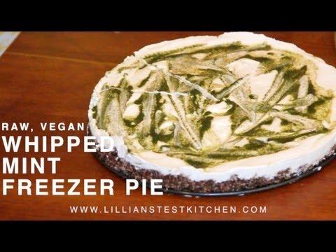 Whipped Mint Freezer Pie (Raw & Vegan)