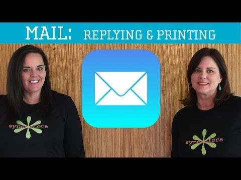 iPhone / iPad Mail - Reply, Reply All, CC, BCC & Print