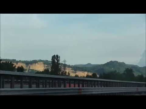 Driving from Venice to Florence, Italy, June 6, 2016