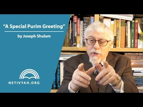 A Special Greeting for Purim